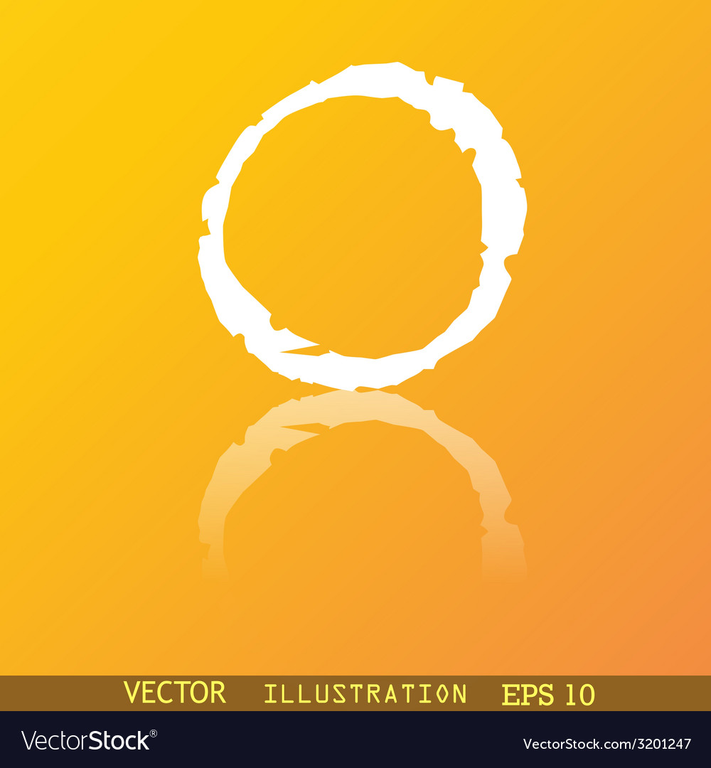 Number zero icon symbol flat modern web design vector | Price: 1 Credit (USD $1)