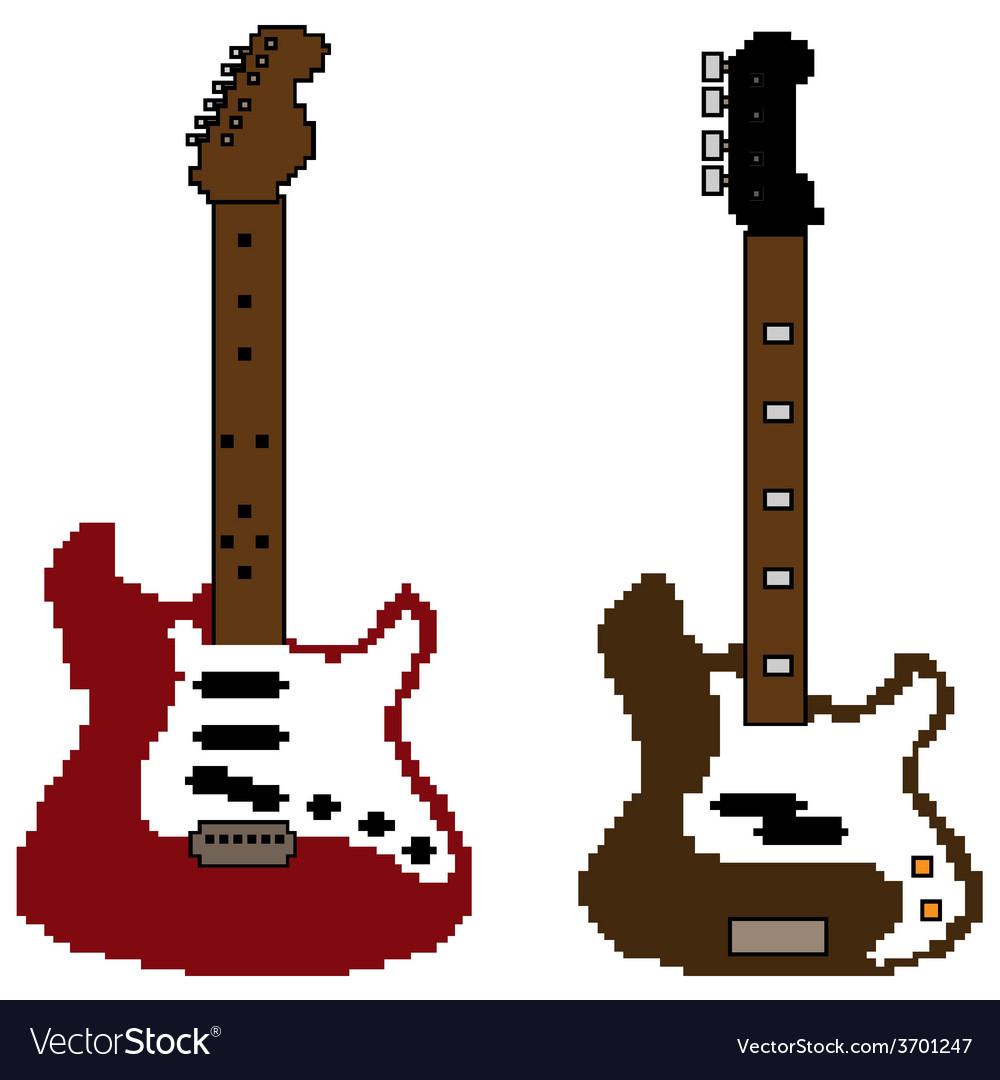 Pixel guitar set2 vector   Price: 1 Credit (USD $1)