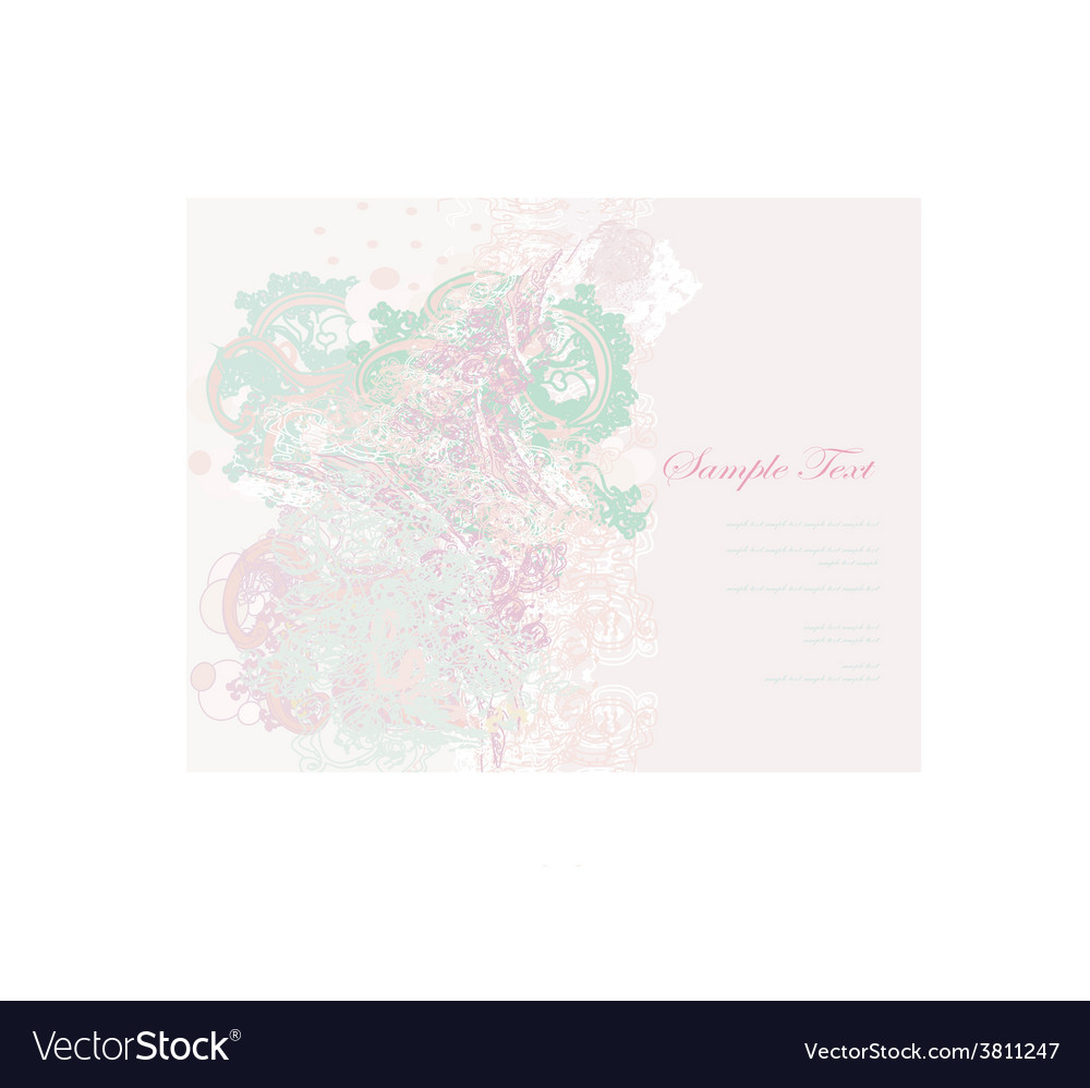 Romantic flower abstract background invitation vector | Price: 1 Credit (USD $1)