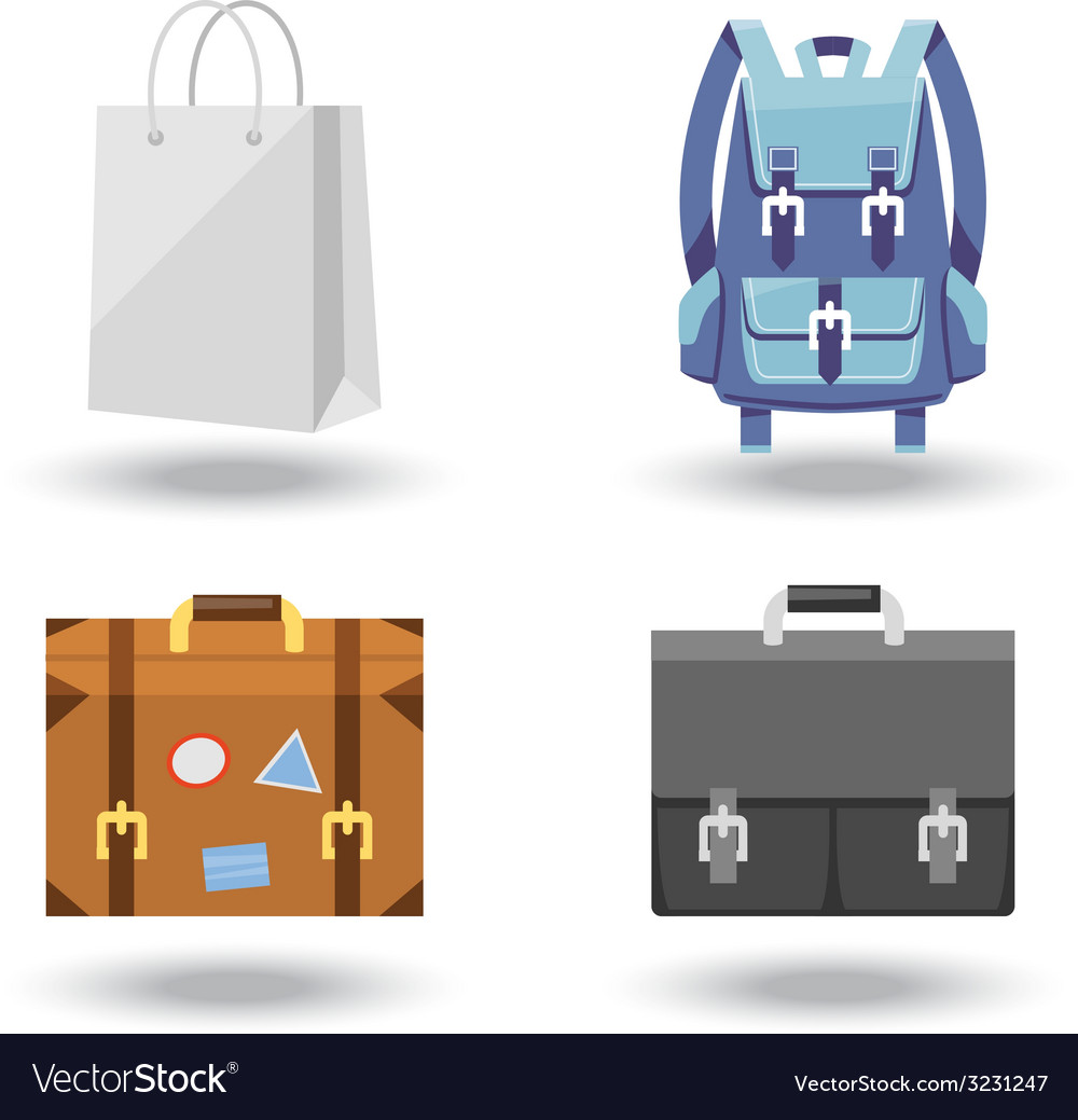 Set of four baggage vector   Price: 1 Credit (USD $1)