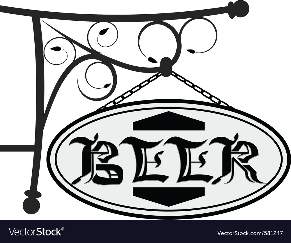 Signboard for beer vector | Price: 1 Credit (USD $1)