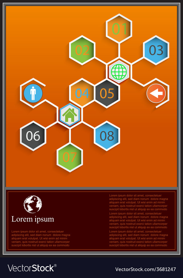 Template for interface or info graphic vector | Price: 1 Credit (USD $1)