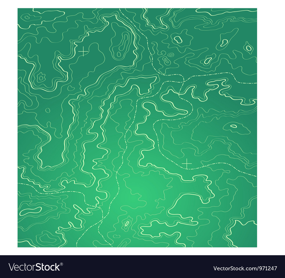 Topographic map green vector | Price: 1 Credit (USD $1)