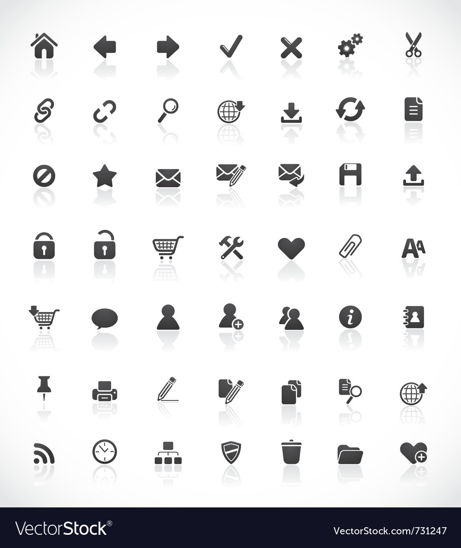 Web and office icons vector | Price: 1 Credit (USD $1)