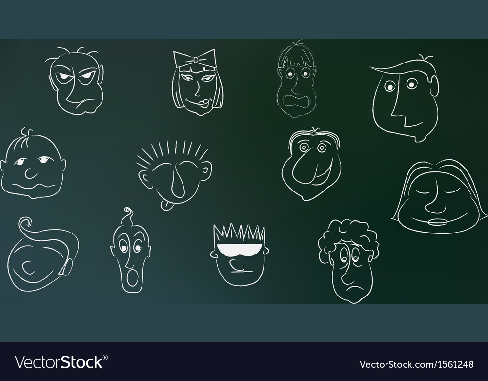 Caricature people in vector | Price: 1 Credit (USD $1)