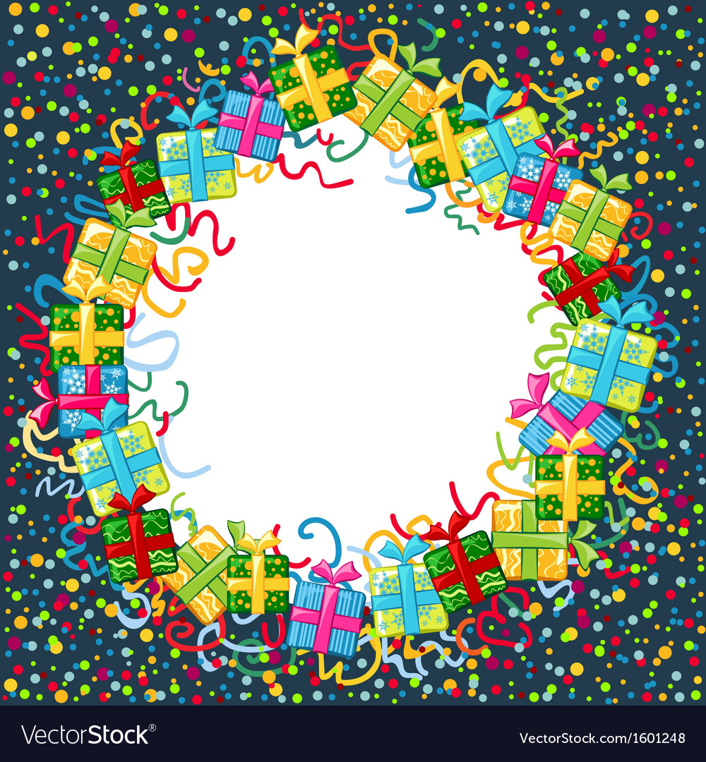 Christmas celebration border vector | Price: 1 Credit (USD $1)