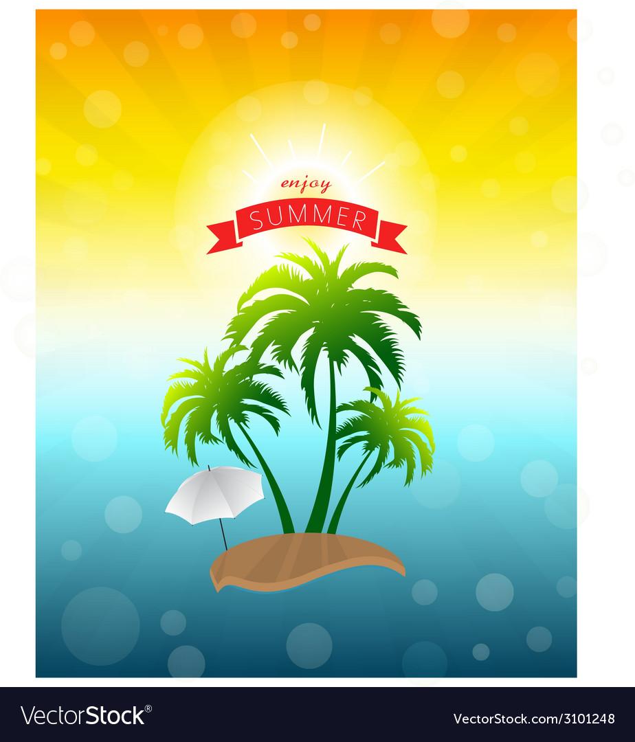 Enjoy summer vector | Price: 1 Credit (USD $1)