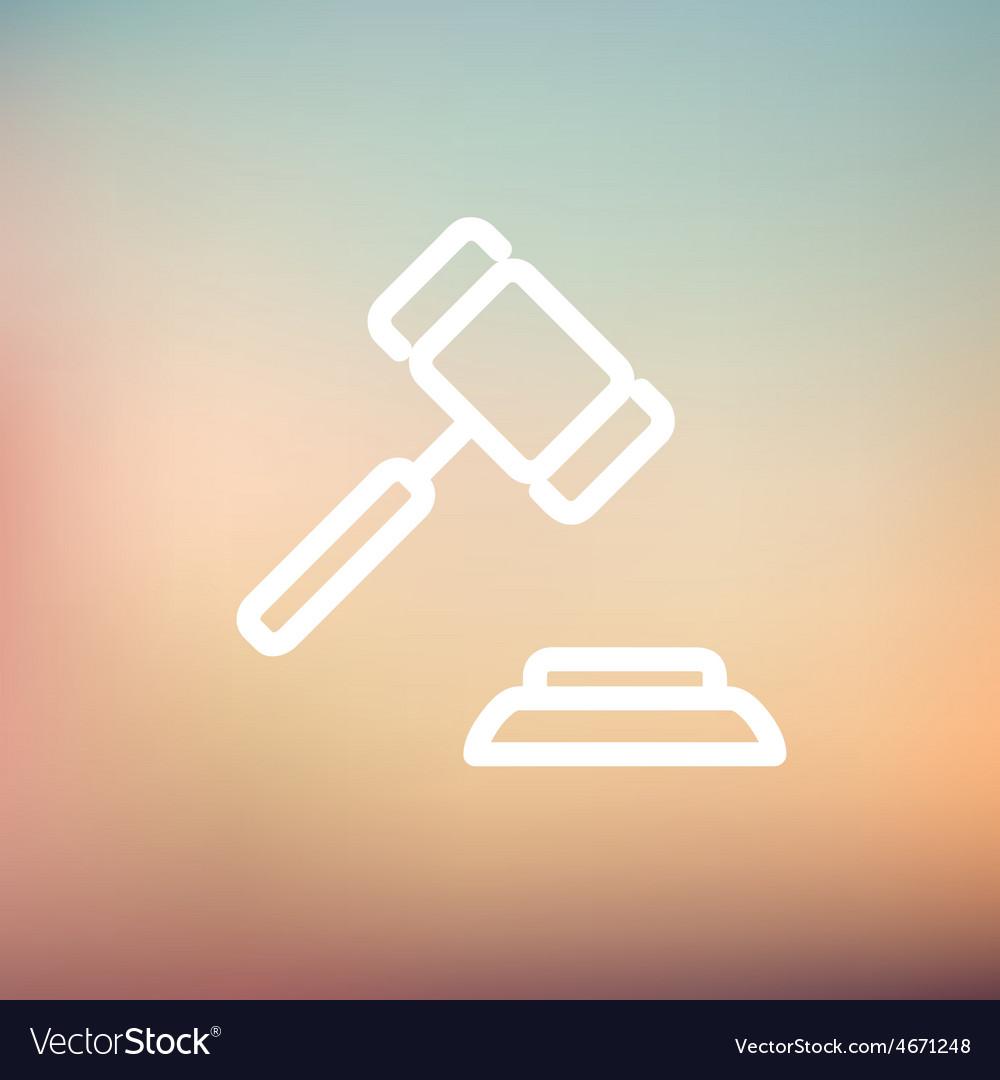 Gavel thin line icon vector | Price: 1 Credit (USD $1)