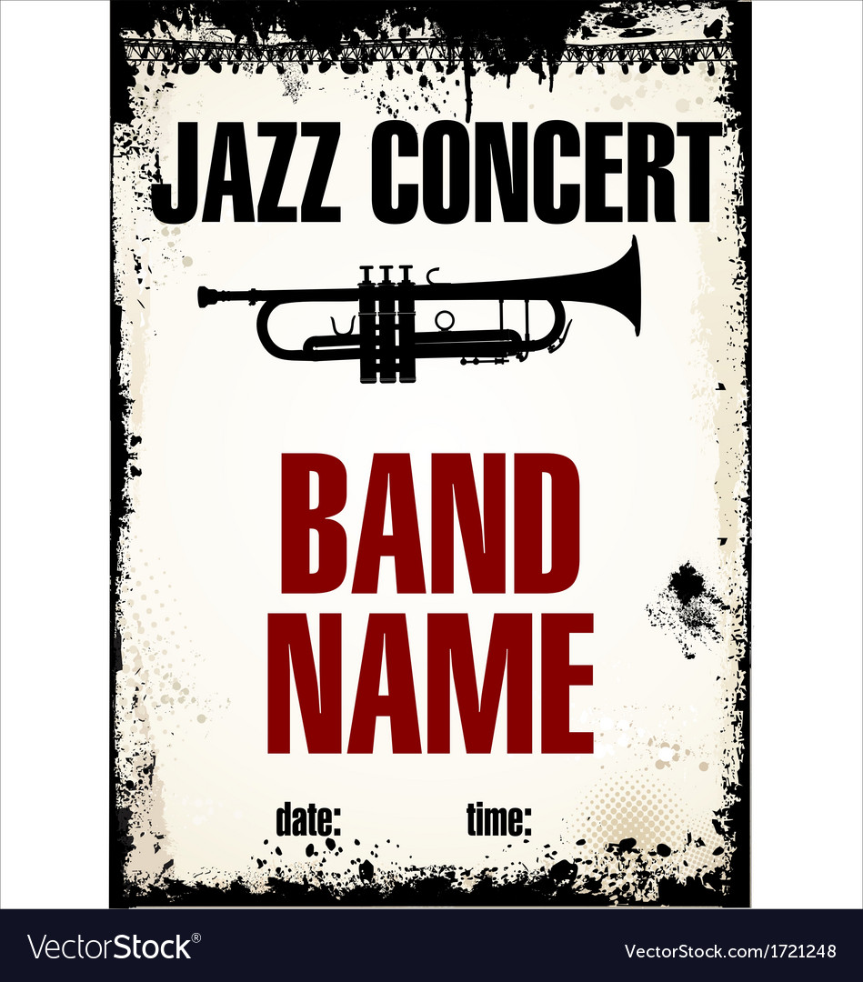 Jazz concert background vector | Price: 1 Credit (USD $1)