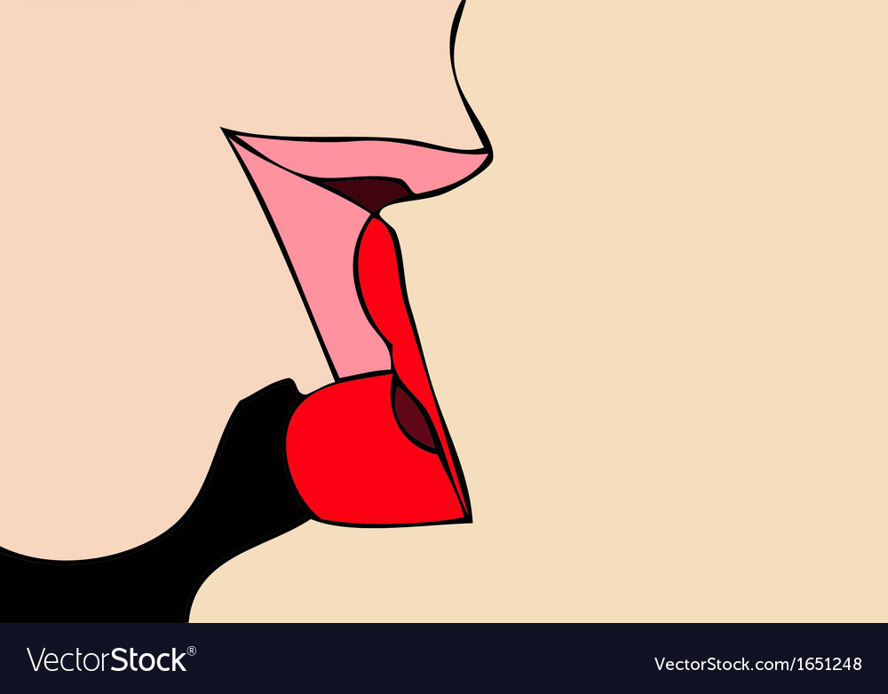 Kiss passionate kiss vector | Price: 1 Credit (USD $1)