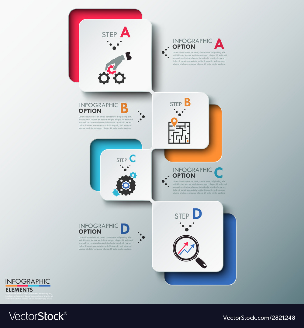 Modern infographics process template vector | Price: 1 Credit (USD $1)