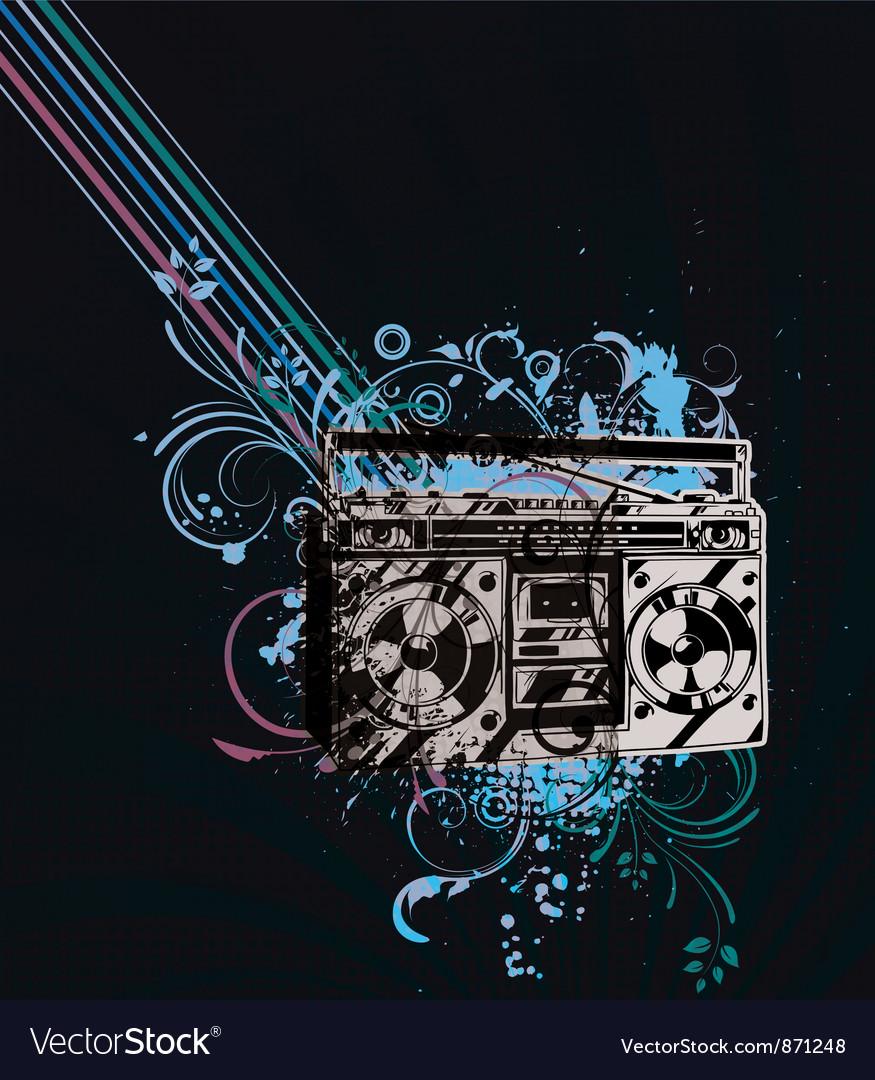 Retro concert poster vector | Price: 1 Credit (USD $1)