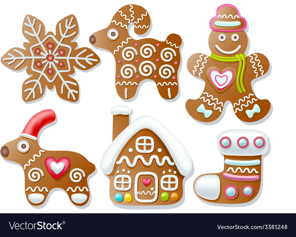 Set of gingerbread vector | Price: 3 Credit (USD $3)