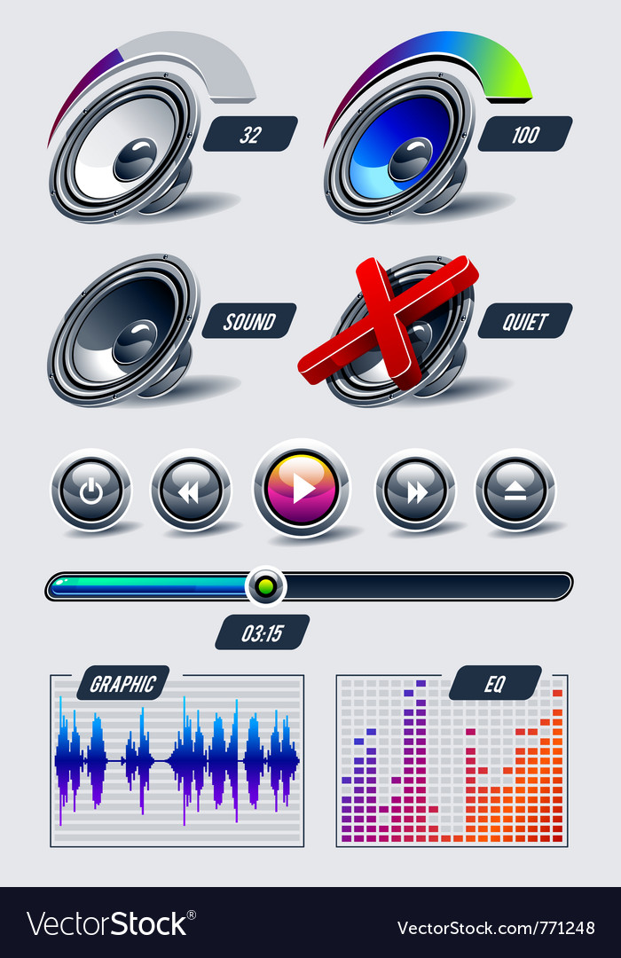 Set of musical elements vector | Price: 3 Credit (USD $3)