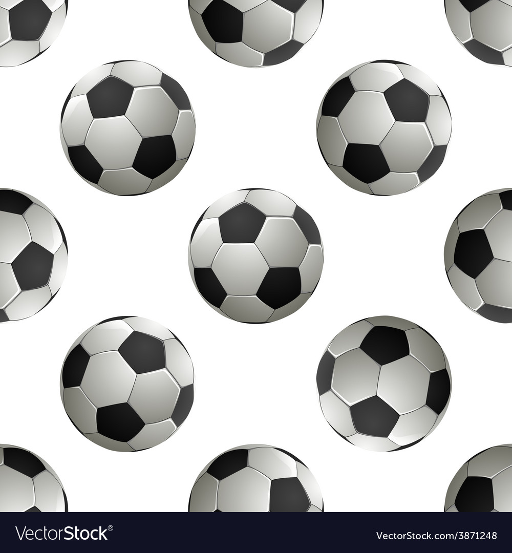 Soccer football seamless pattern vector | Price: 1 Credit (USD $1)