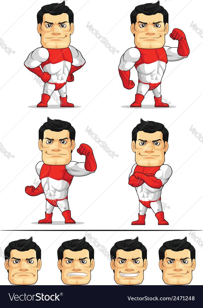 Superhero customizable mascot vector | Price: 1 Credit (USD $1)