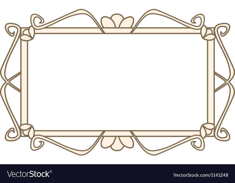 Sweet pastel retro art deco frame vector | Price: 1 Credit (USD $1)