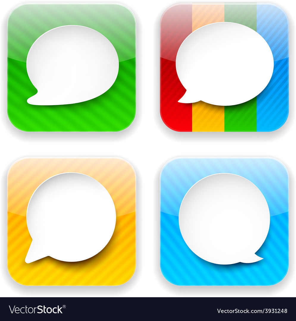 Web speech bubble app icons vector | Price: 1 Credit (USD $1)