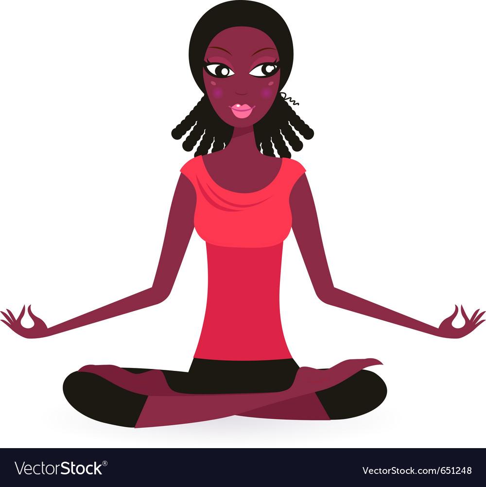 Yoga lotus pose vector | Price: 1 Credit (USD $1)