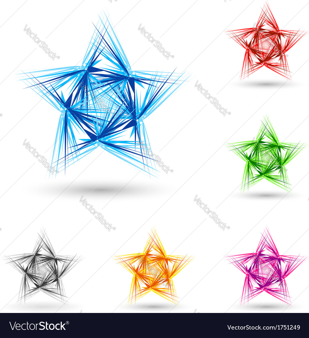 Abstract fluffy star vector | Price: 1 Credit (USD $1)