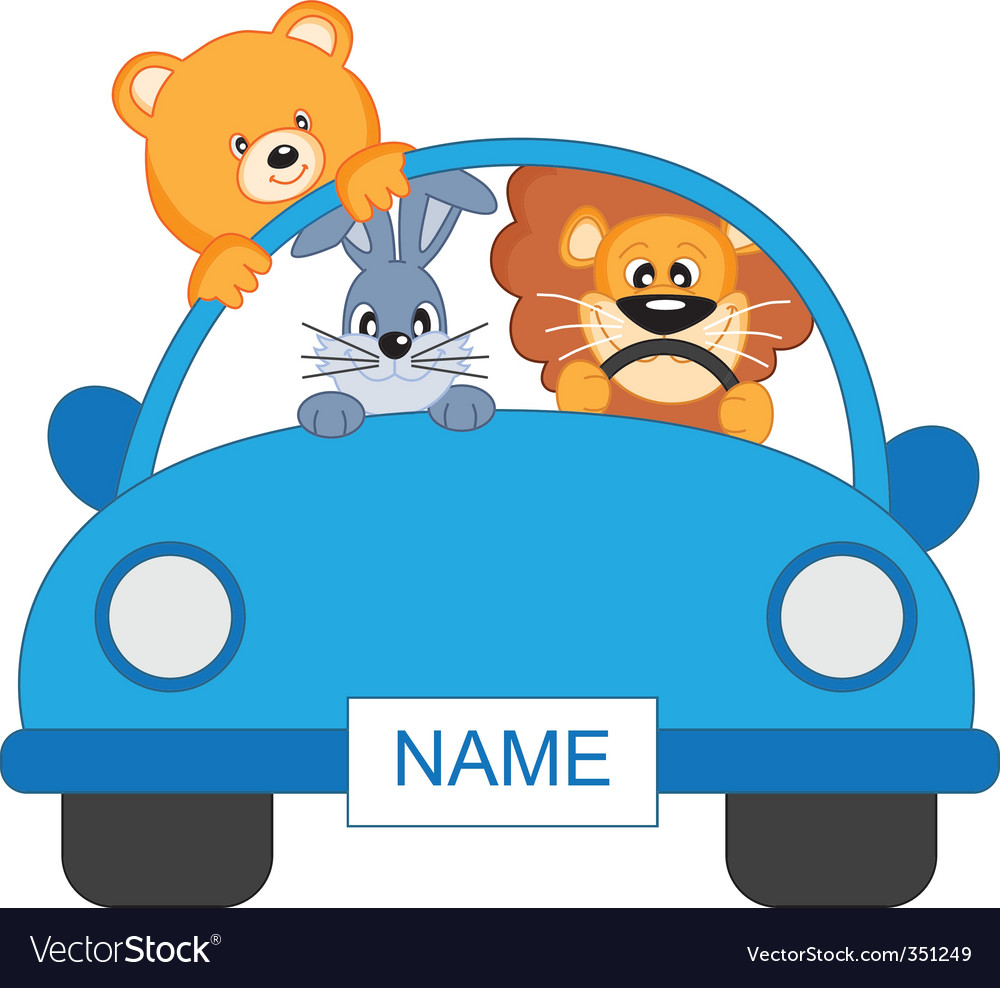 Animal car vector | Price: 1 Credit (USD $1)