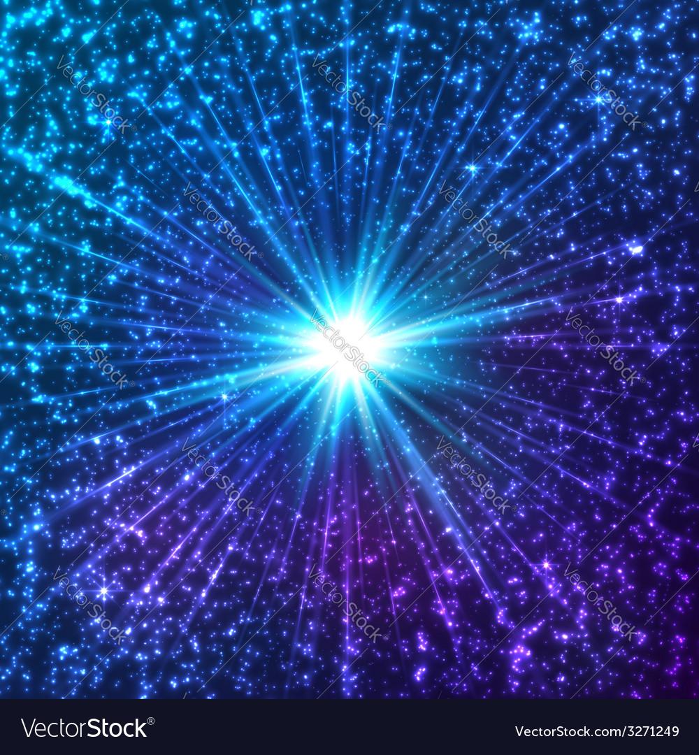Blue shining cosmic stars vector   Price: 1 Credit (USD $1)