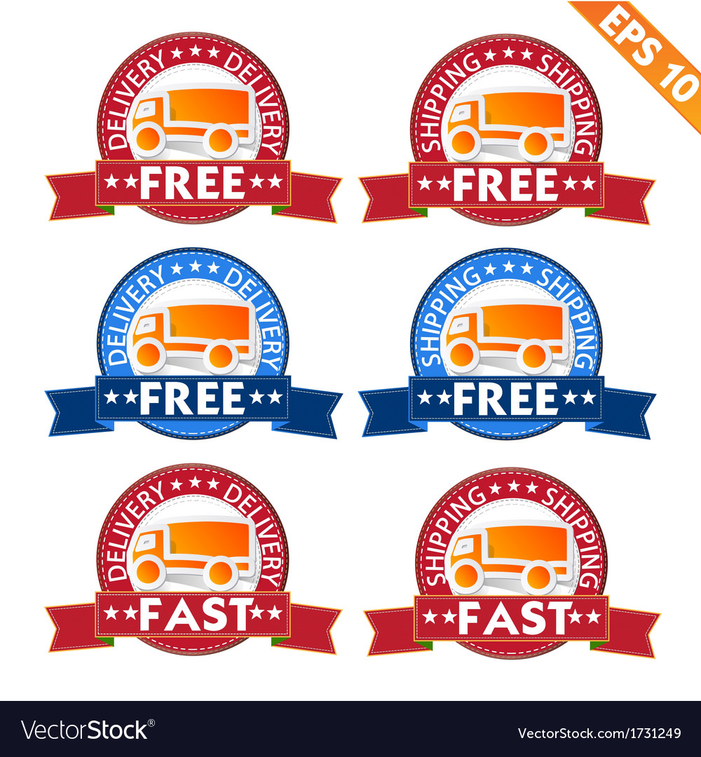 Free delivery logistic advertising transportation vector | Price: 1 Credit (USD $1)