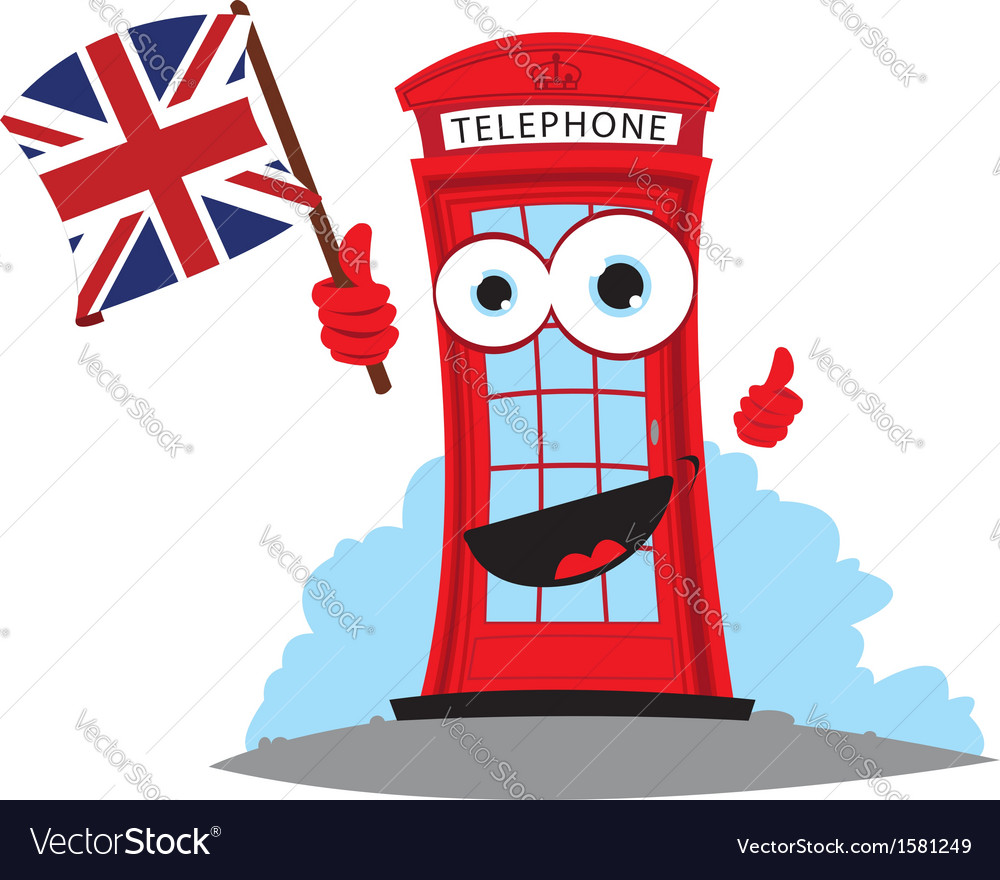 Funny english telephone vector | Price: 1 Credit (USD $1)