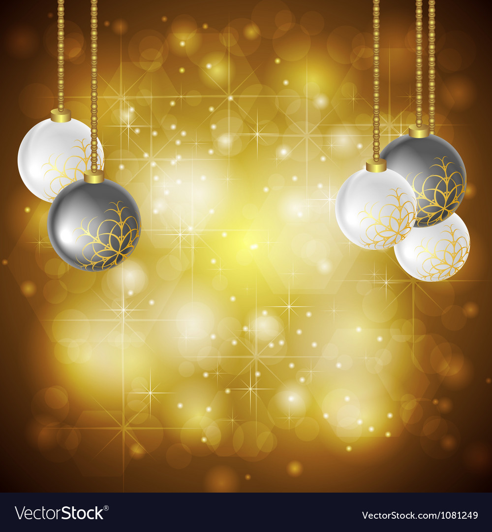 Golden christmas background vector | Price: 1 Credit (USD $1)