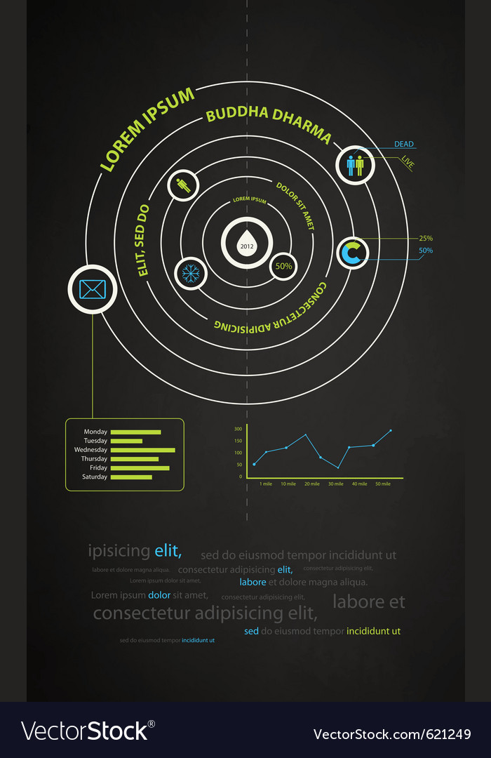 Infographics abstract presentation of business vector | Price: 1 Credit (USD $1)
