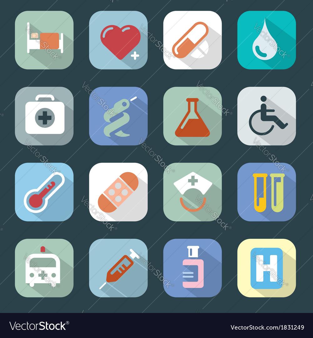 Medicine web colour icons set vector | Price: 1 Credit (USD $1)