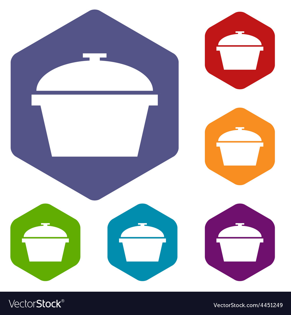 Pan rhombus icons vector | Price: 1 Credit (USD $1)