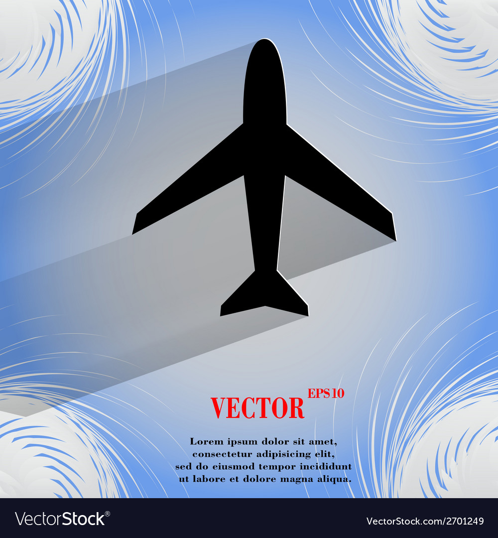 Plane  flat modern web design on a flat geometric vector | Price: 1 Credit (USD $1)