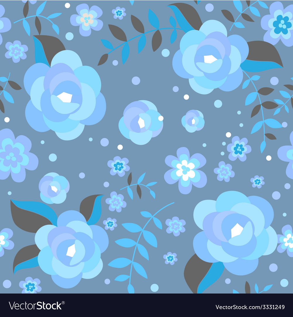 Seamless pattern with ice roses vector | Price: 1 Credit (USD $1)