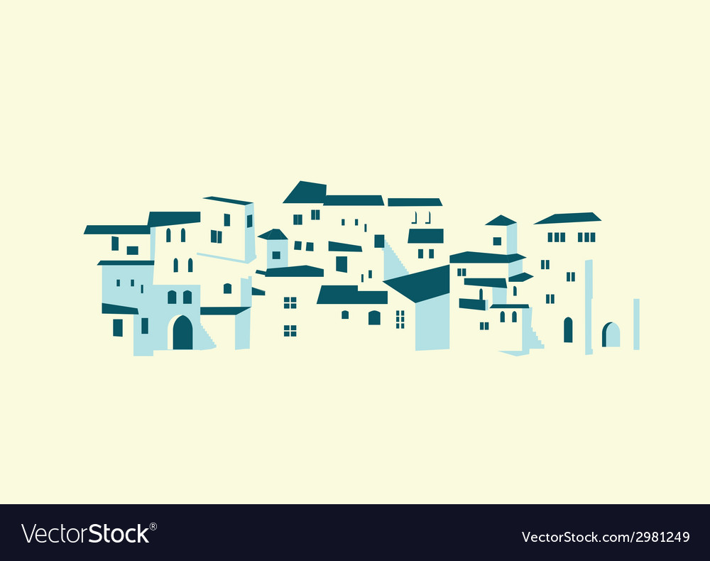 Seashore town vector | Price: 1 Credit (USD $1)