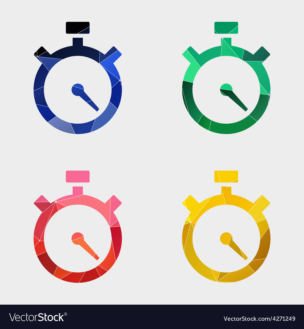 Timer icon abstract triangle vector | Price: 1 Credit (USD $1)