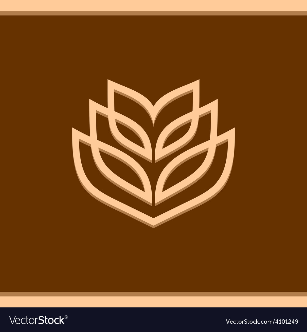 Wheat ear technical logo template vector | Price: 1 Credit (USD $1)