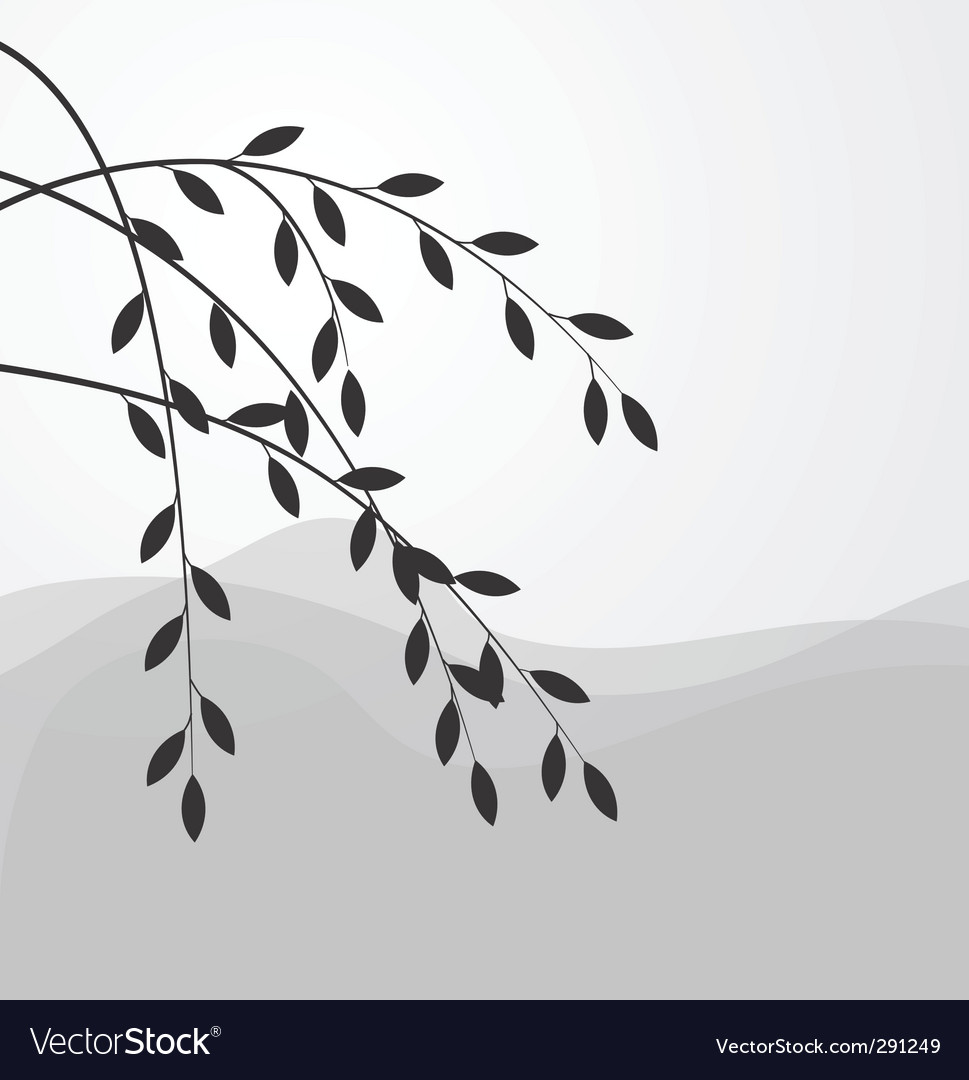 Willow branch vector | Price: 1 Credit (USD $1)
