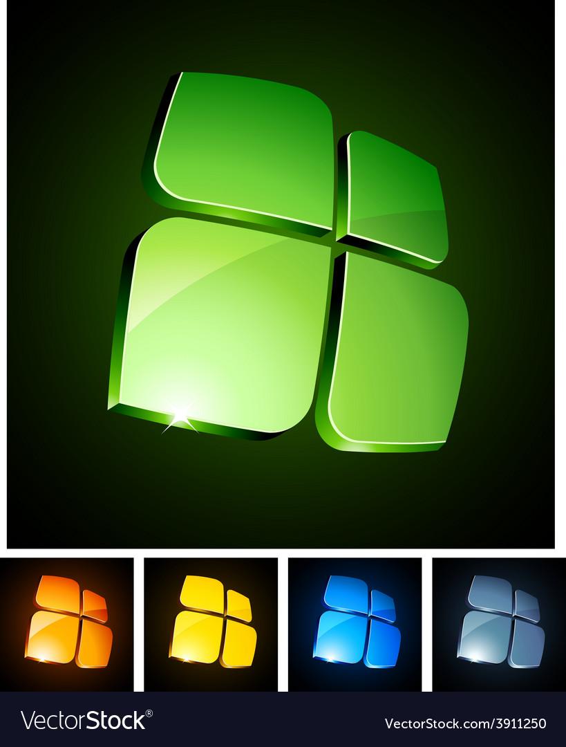 3d vibrant emblems vector | Price: 1 Credit (USD $1)