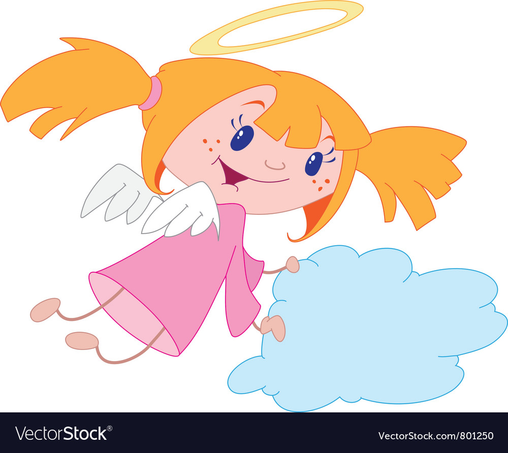 Angel girl vector | Price: 3 Credit (USD $3)