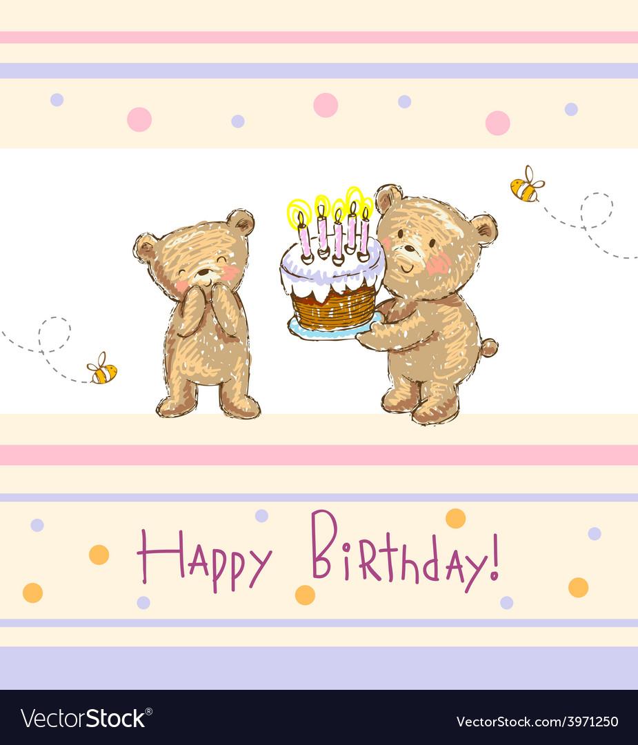 Birthday greetings vector | Price: 1 Credit (USD $1)