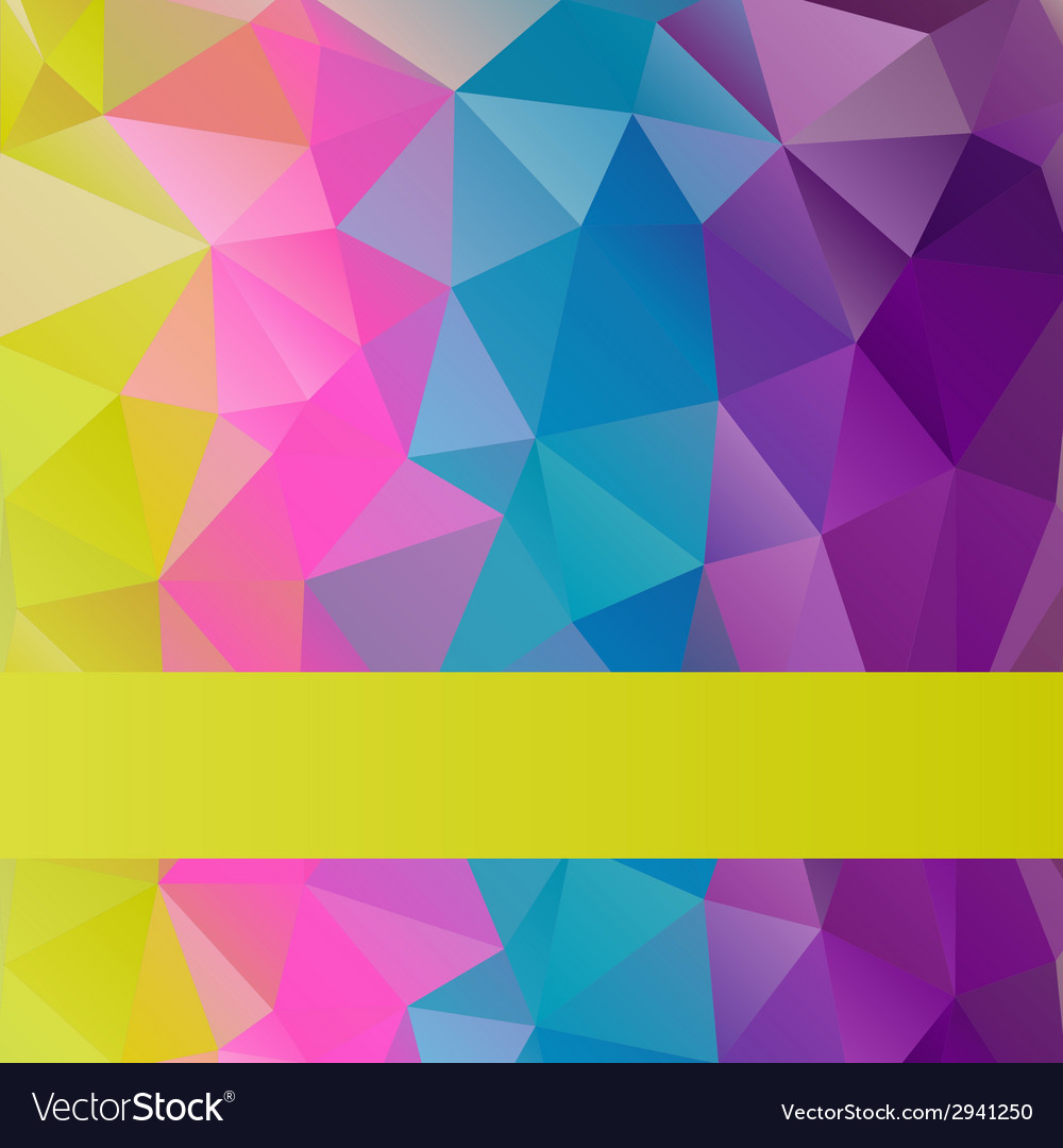 Bright rainbow background from mosaic triangles vector | Price: 1 Credit (USD $1)