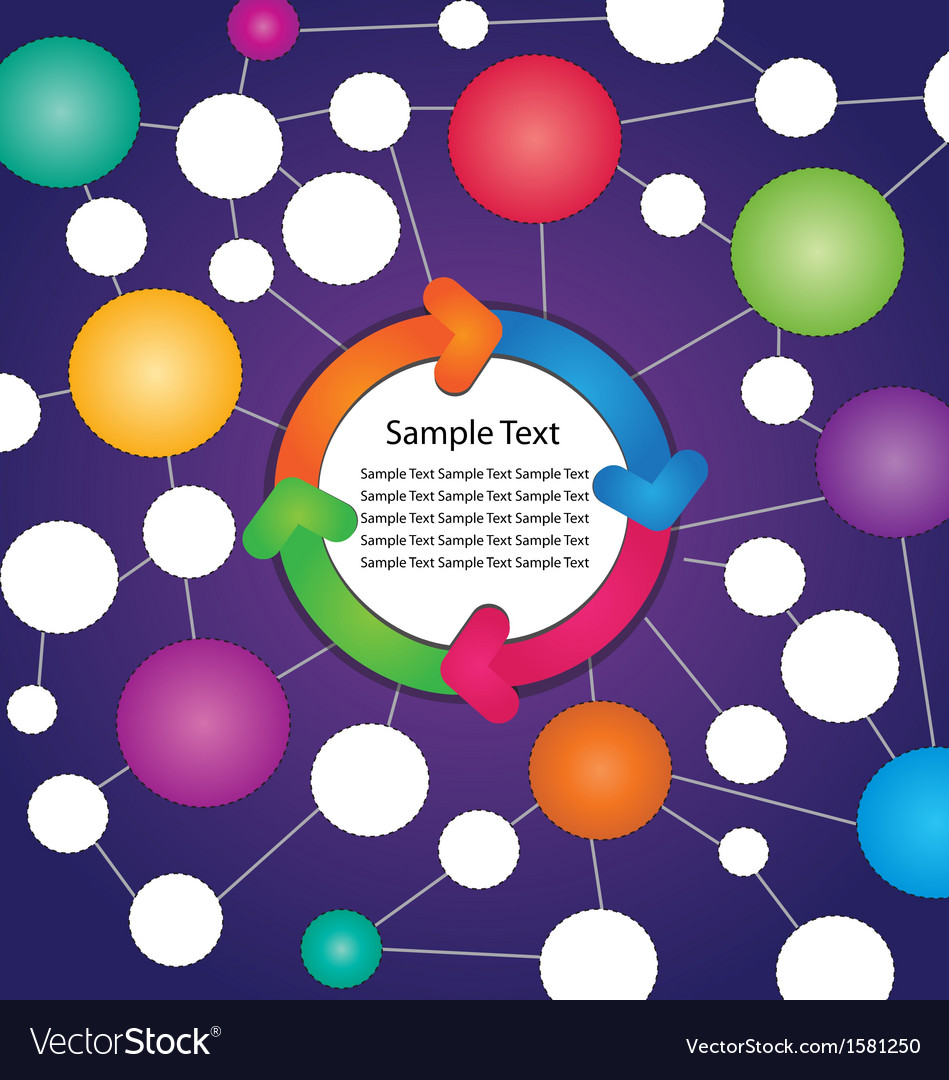 Circle flow chart with colorful arrow vector   Price: 1 Credit (USD $1)