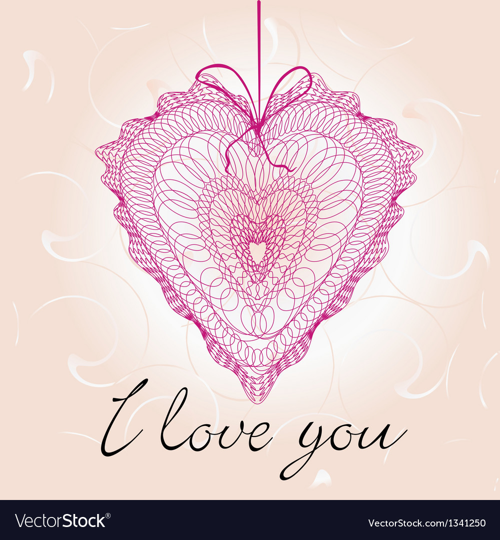 Greeting cards with heart shape vector | Price: 1 Credit (USD $1)