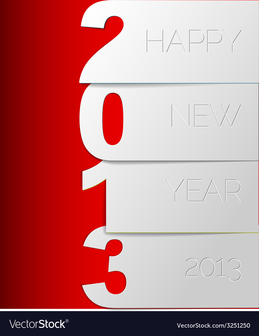Happy new year 2013 card vector | Price: 1 Credit (USD $1)