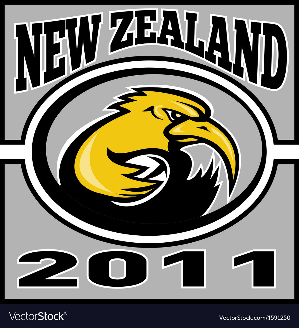 Kiwi rugby player with ball nz 2011 vector | Price: 1 Credit (USD $1)
