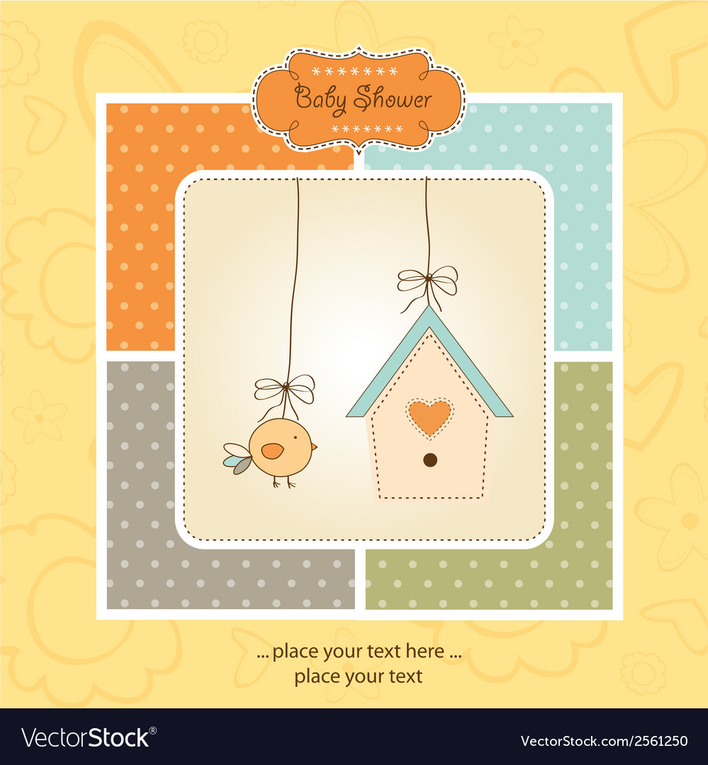 New baby announcement card vector | Price: 1 Credit (USD $1)