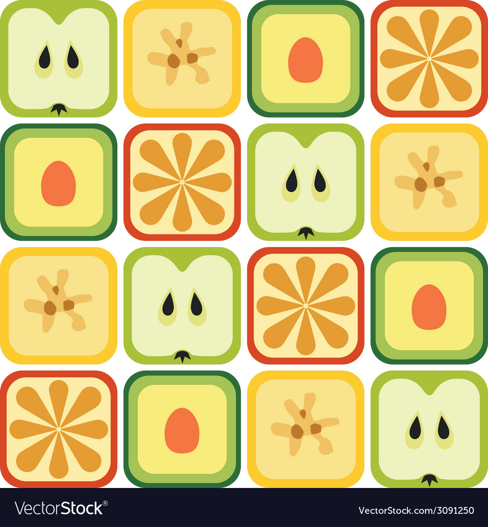 Seamless fruits pattern vector | Price: 1 Credit (USD $1)
