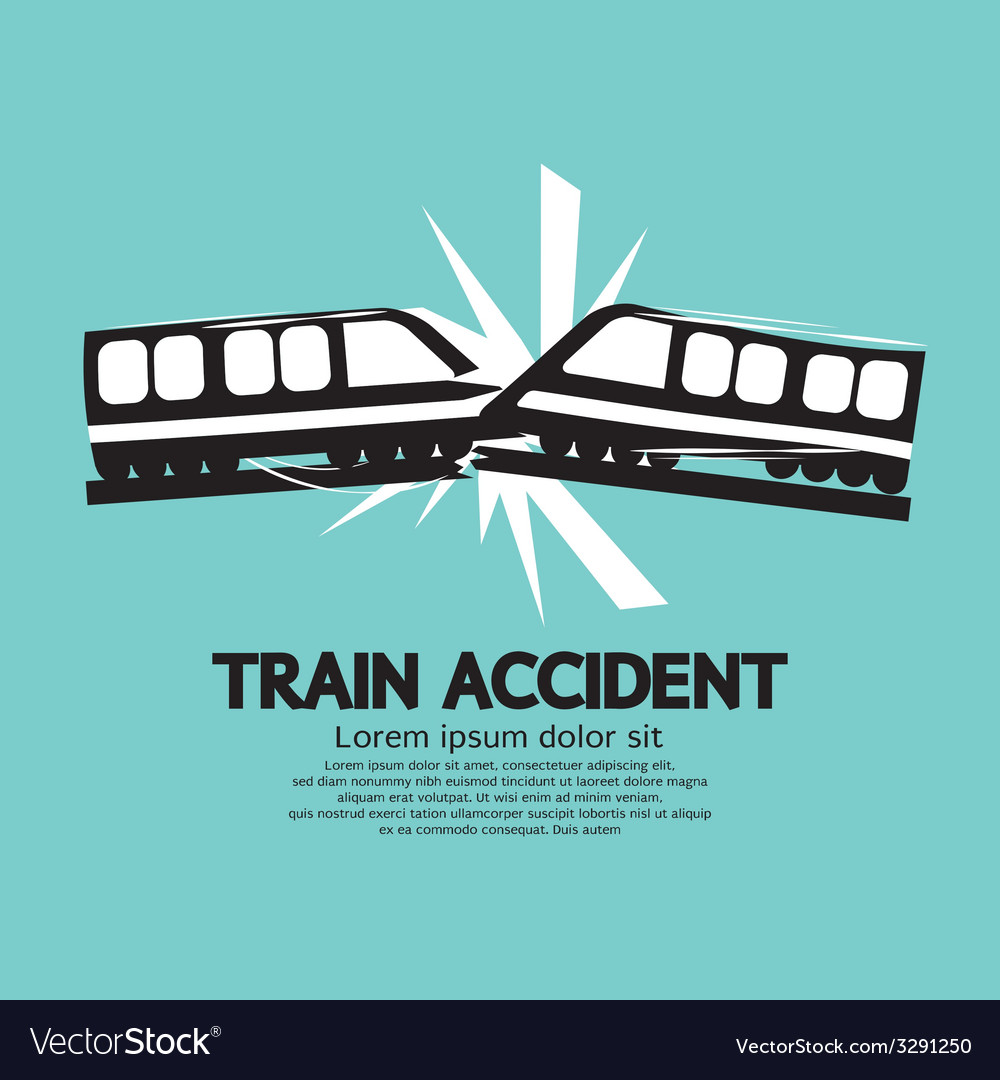 Train accident graphic vector | Price: 1 Credit (USD $1)