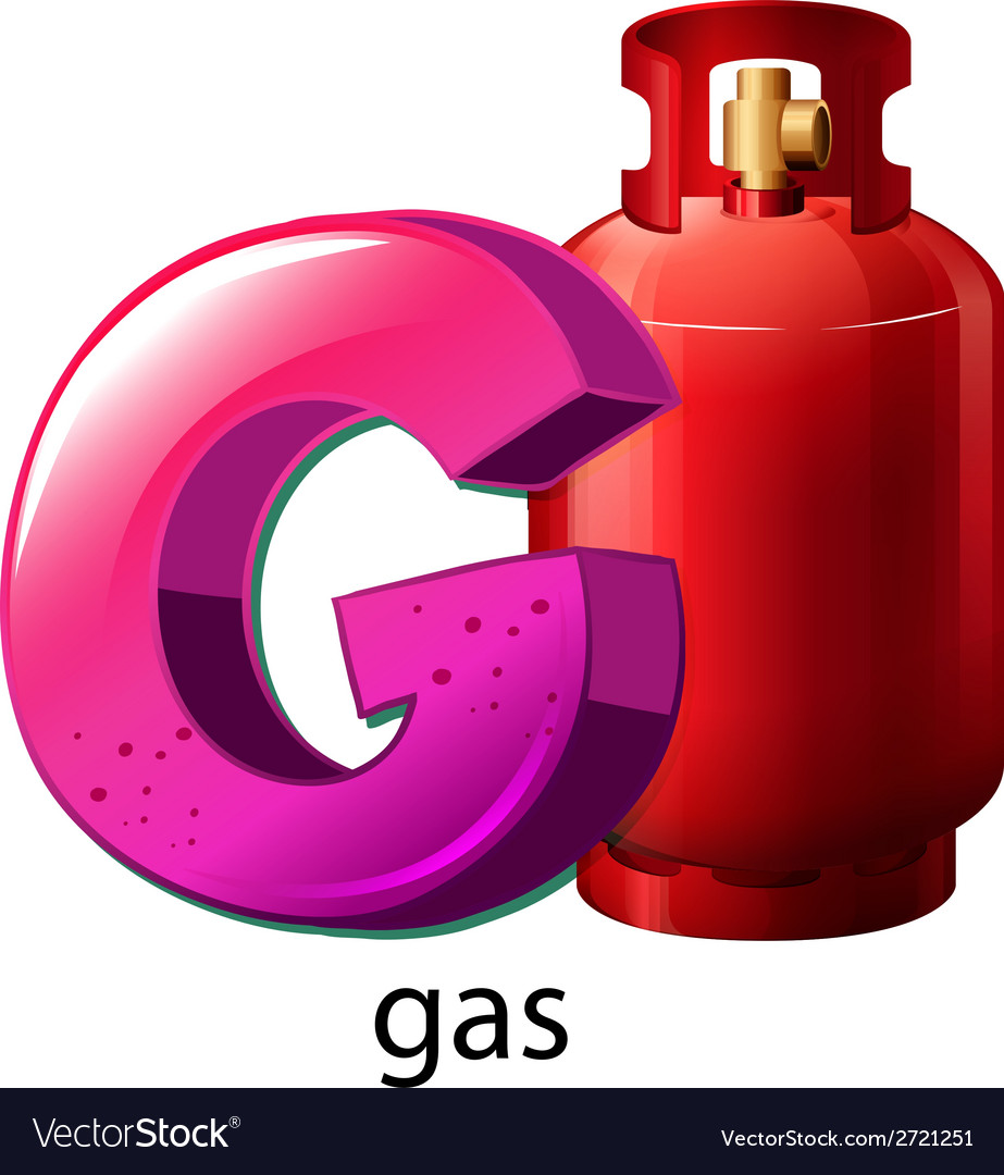 A letter g for gas vector | Price: 1 Credit (USD $1)